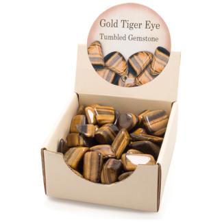 Tiger Eye tumbled gemstones