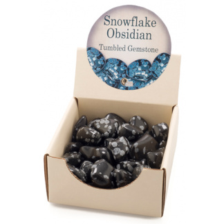 Snowflake obsidian tumbled gemstones