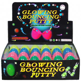Glow bouncing putty display