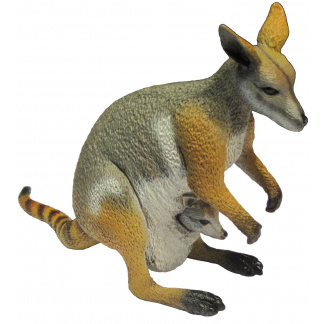 Yellow-footed rock-wallaby figurine