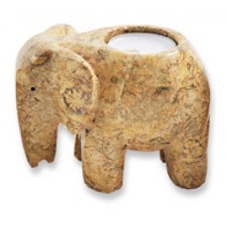 4 inch elephant tealight holder