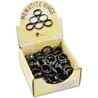 Hematite ring display