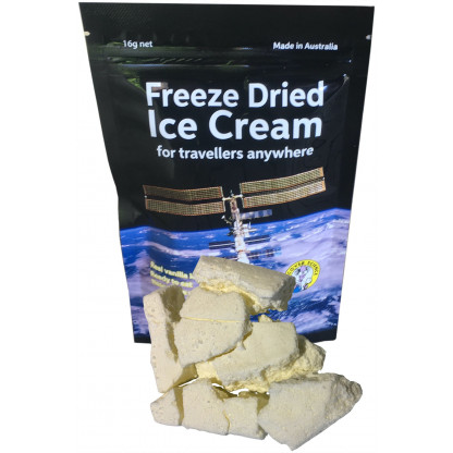 Freeze Dried ice cream with product