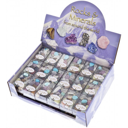 3006 Each rock box contains a selection of mixed rocks & minerals. Very collectible.