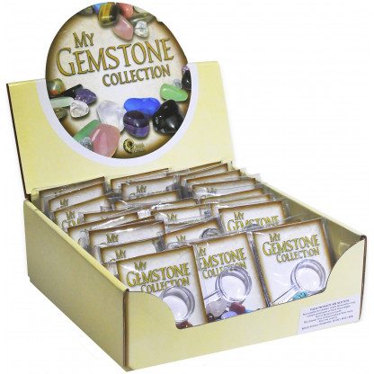 3018 Each bag comes complete with a magnifying glass to closely inspect the gemstones.