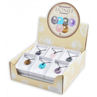 Gemstone donut display