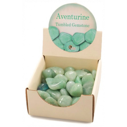 3037 Aventurine tumbled gemstone. Top quality and consistent size of approximately 2.5 to 3 cm.