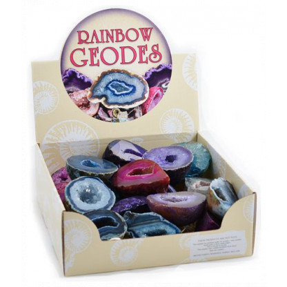 3045 2 Rainbow geodes are always a winner. All the packs are full of sparkling brightly coloured pieces.