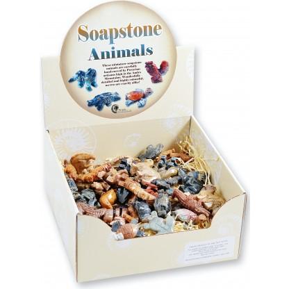 Soapstone animals box