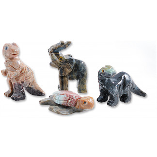 Soapstone animals