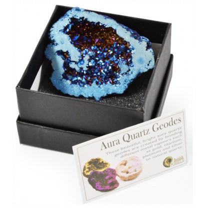 Boxes aura quartz geode