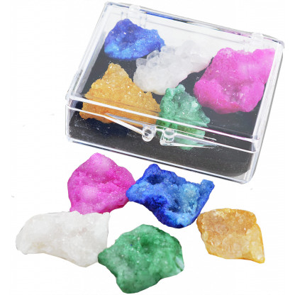 3072 1  scaled Geode pieces that have been coloured to enhance their beautiful crystals.