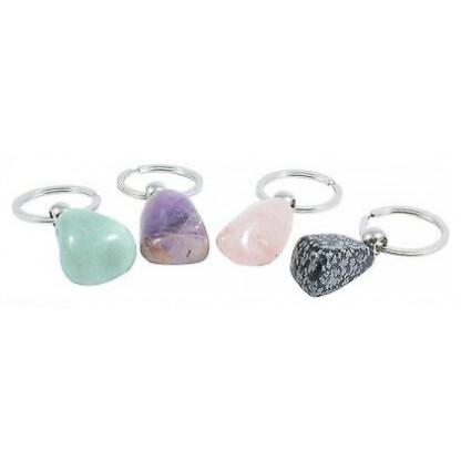 Gemstone keychain