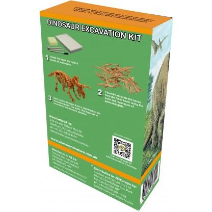 Triceratops excavation kit back of box