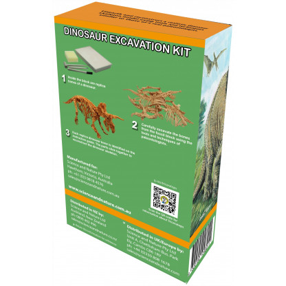 Triceratops excavation kit back of box