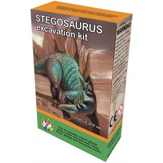 Stegosaurus excavation kit box