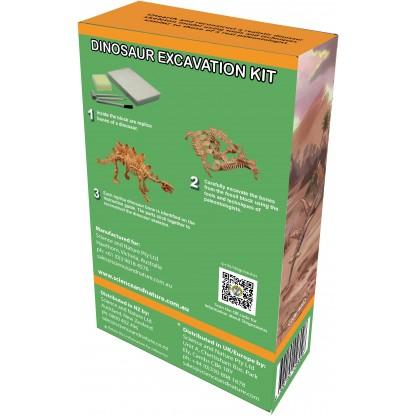 Stegosaurus excavation kit back of box