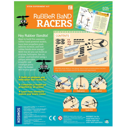Rubber Band Racers back of box