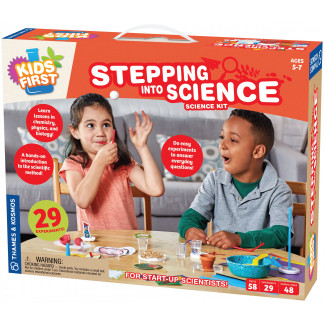 Stepping into science box