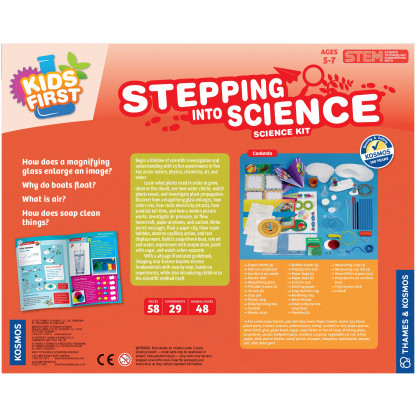 Stepping into science back of box