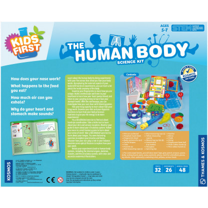 Human body science kit back fo box