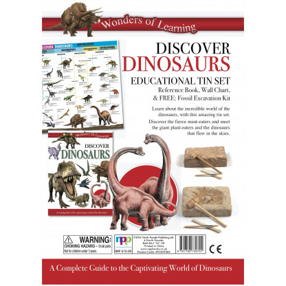 5700 1 Educational tin set including reference book, Wall chart and fossil excavation kit. <img />