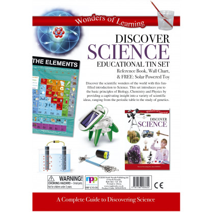 5701 1 A complete guide to discovering Science. Includes a book stacked with scientific information, a wall chart and an activity.
