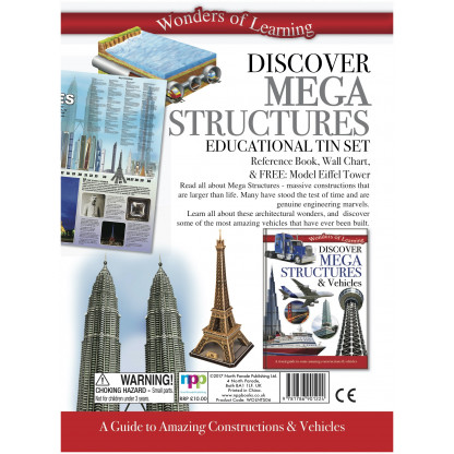 5708 1 Kit includes a reference book, wall chart and a model of the Eiffel Tower to put together.
