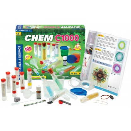 640118 chemc1000 contents scaled CHEM C1000 Chemistry Set prepares you for a lifetime of fascination with this essential science through 125 diverse experiments.
