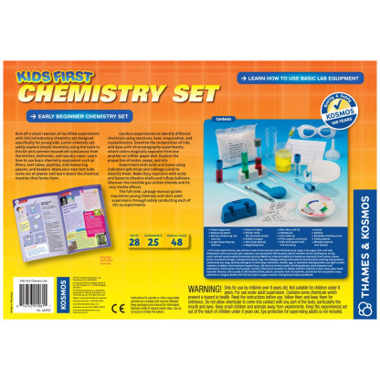 Kids First Chemistry back of box