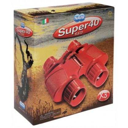 Red binoculars box