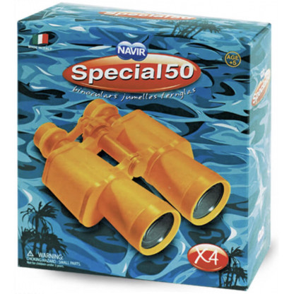 6584 2 Yellow binoculars in ABS plastic. Supplied with case, neck straps and lens covers.