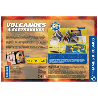 Volcanooes and Earthquakes back of box
