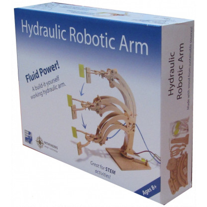 6710 Hydraulic circuits power the robotic articulated arms. Great wooden kit for budding engineers!