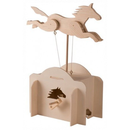 6712 1 The elegant automaton includes motion of both the horse's body and legs in co-ordination.