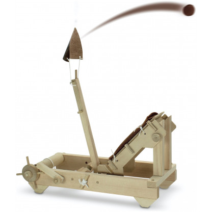 6732 4 scaled The Roman Onager catapult is a version of a Mangonel which uses a sling bucket to launch.