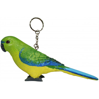 Orange Bellied Parrot keychain
