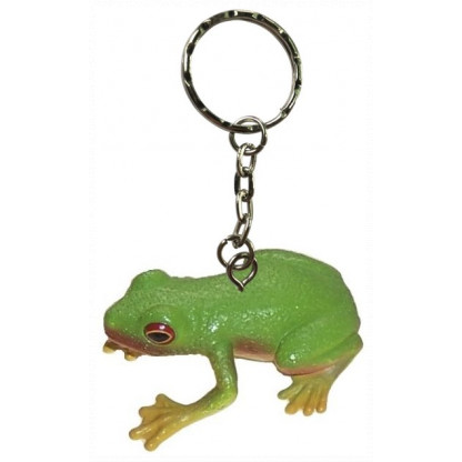 Red-eyed green tree frog keychain