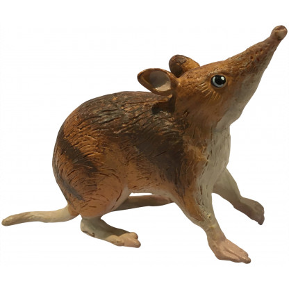75462 7.5 cm cm long model of an Eastern Barred Bandicoot with an information hang tag.