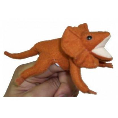 Frilled Lizard finger puppet