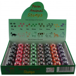 Farm animal stamp box