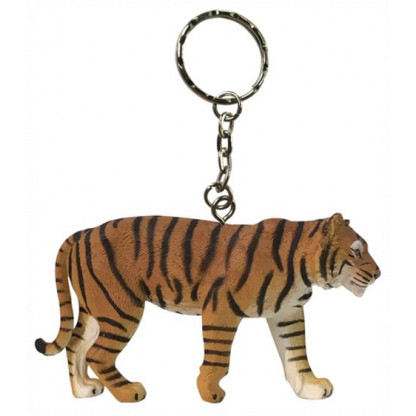 75913 Quality PVC replica of a Sumatran Tiger with a keychain attached. Size approx 7 cm long by 5 cm high...