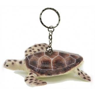 Green turtle keychain