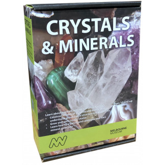 Crystals and Minerals science kit Box