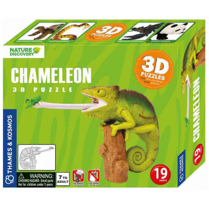 264910 This fun 3D Chameleon Puzzle is fun to assemble and the model makes a great display.