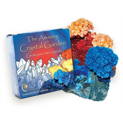 3060 1 The Amazing Crystal Garden pack contains limestone pieces which create crystals when vinegar is added.