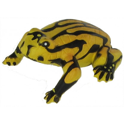 75361 The corroboree frog figurine is a hand painted plastic replica of this critically endangered species only found in alpine areas of the southern highlands of New South Wales.