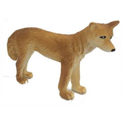 75380 4 <a>Hand painted plastic replica of a Small dingo.</a>