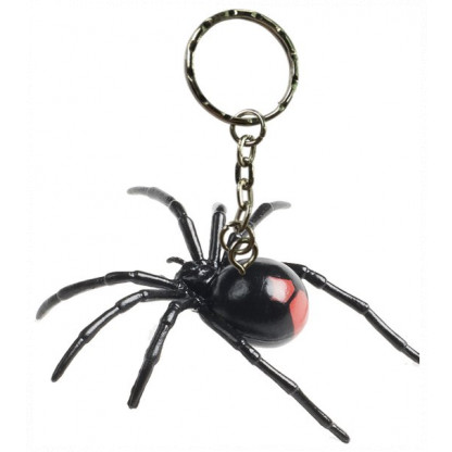 78093 <a>Redback spider with keychain fitted.</a>