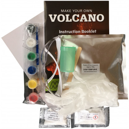 78100 2 Make Your Own Volcano science kits is an easy, safe and fun kit that allows you can recreate the spectacular sight of a volcanic eruption. And much more!